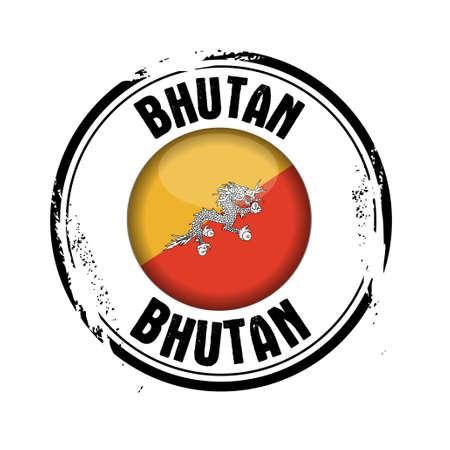 bhutan: stempel Bhutan