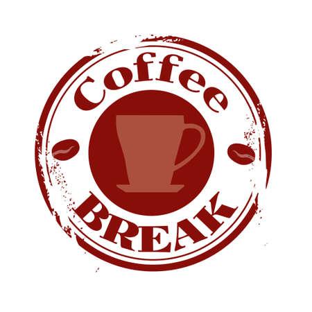 tampon: stamp Coffee Break Illustration