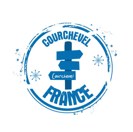 stamp Courchevel Vector