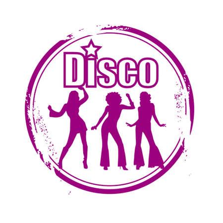 stamp disco Vector