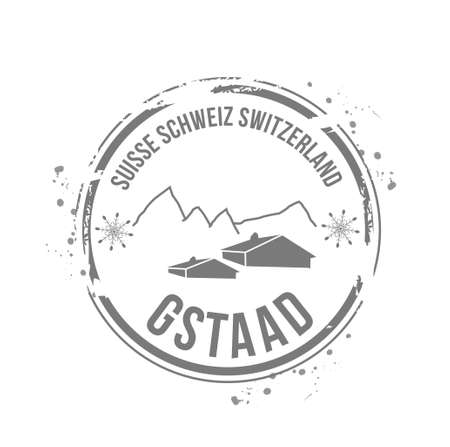 stamp Gstaad Stock Vector - 17694655