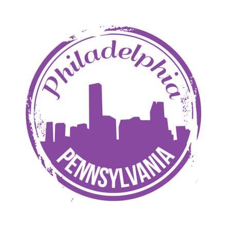 philadelphia: stamp Philadelphia Illustration