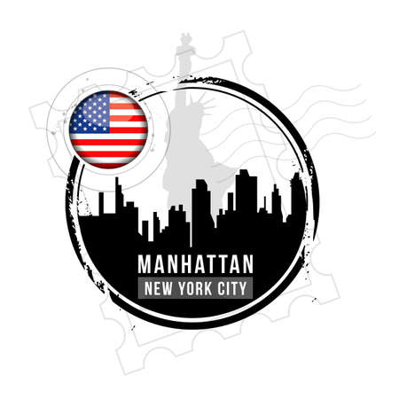 stamp Manhattan Vector