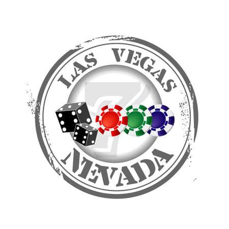 voyage: stamp Las Vegas Illustration