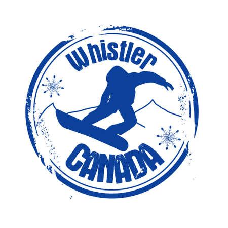 stamp Whistler Stock Vector - 17694701
