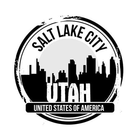 salt lake city: stamp Salt Lake City