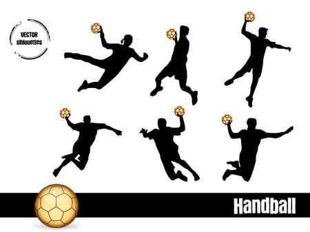 sportswoman: silhouettes Handball Illustration