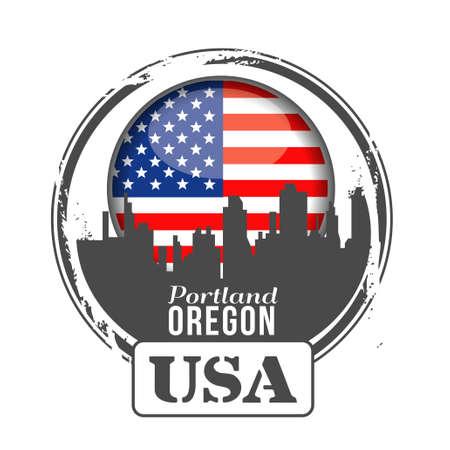 stamp Oregon Stock Vector - 17694676