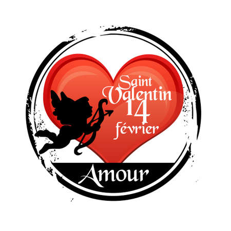 stamp Saint Valentin Vector