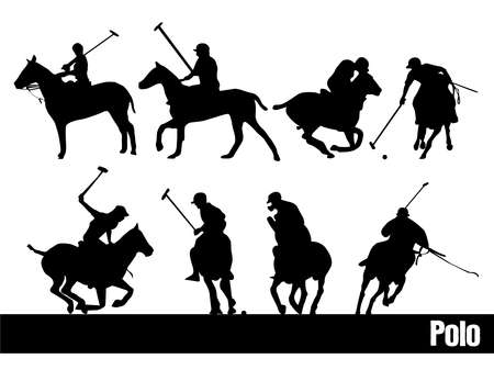 polo ball: polo silhouettes