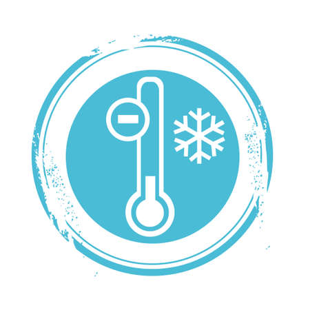 hot and cold: stamp cold Illustration