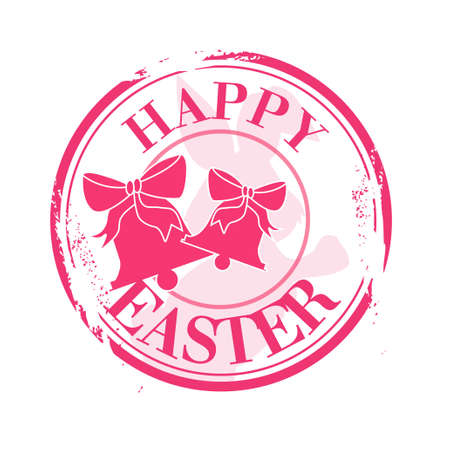 tampon: stamp happy easter