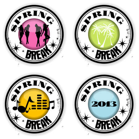 stamps Spring Break Vector