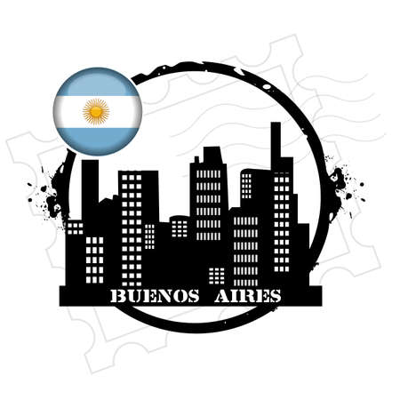 aires: stamp Buenos Aires Illustration