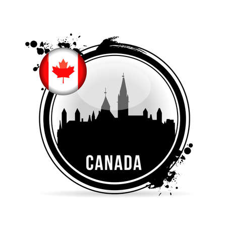 stamp Canada Stock Vector - 20594418