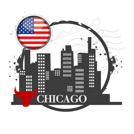 stamp Chicago Vector