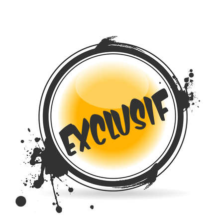 stamp Exclusif Stock Vector - 20644544