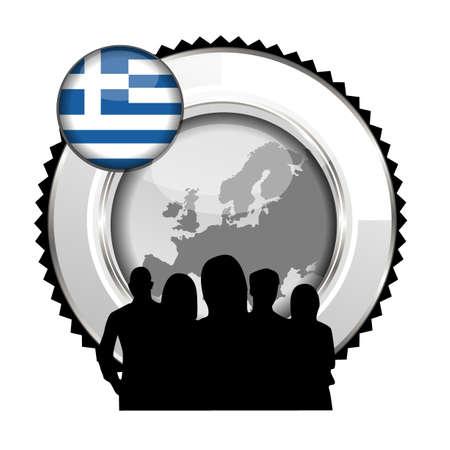 greece stamp: stamp Greece Illustration