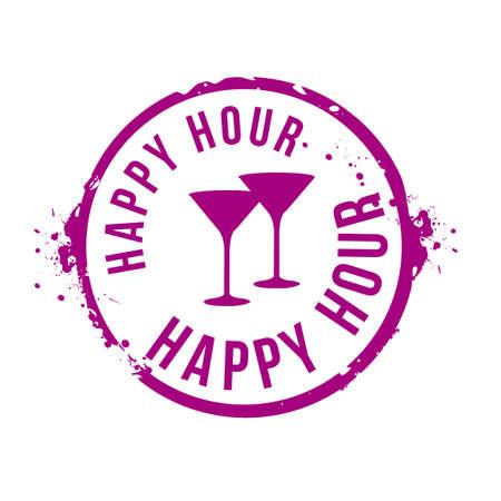 week end: happy hour stammp Vectores