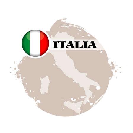 italia: stamp italia Illustration