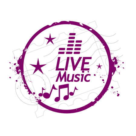 stamp Live Music Vector