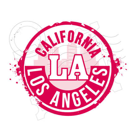 stamp Los Angeles Stock Vector - 20644593