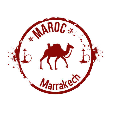 marrakech: stamp Morocco
