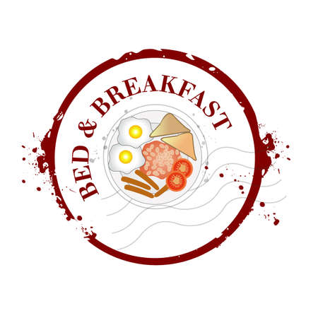 Bed   Breakfast Stock Vector - 20644588