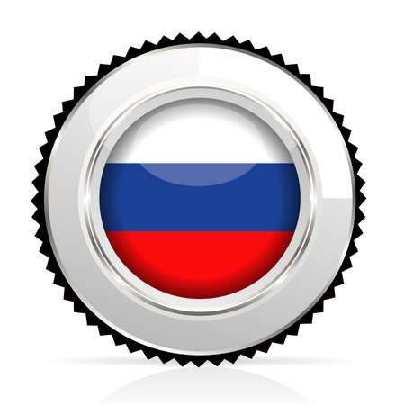 russian cuisine: medal Russia Illustration
