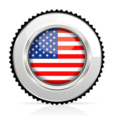 medal USA Stock Vector - 20644550