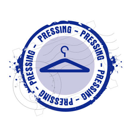 laundry hanger: sello presionando