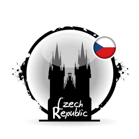 stamp Czech Republic Stock Vector - 20855825