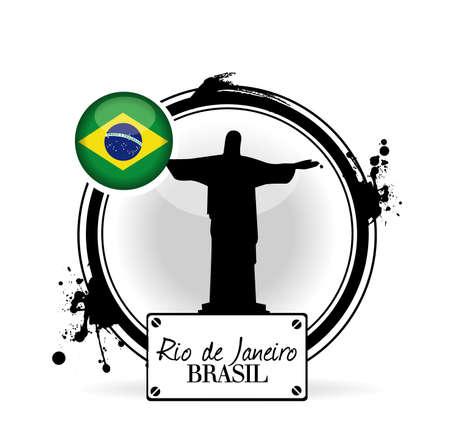 brasil: stamp Brasil Illustration