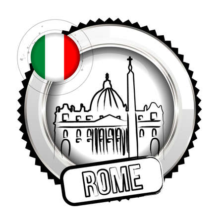 rome italy: stamp Rome