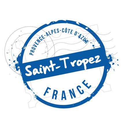 stamp Saint-Tropez Stock Vector - 20855838