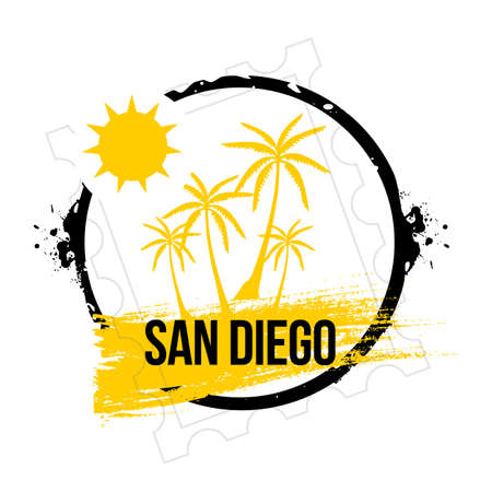 stamp san Diego Stock Vector - 20855842