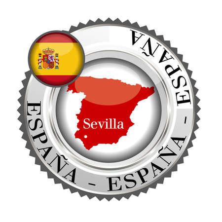 sevilla: medaille Sevilla Stock Illustratie