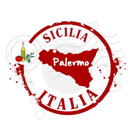 palermo   italy: stamp Sicilia