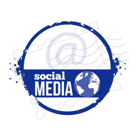 stamp Social Media Stock Vector - 20855862