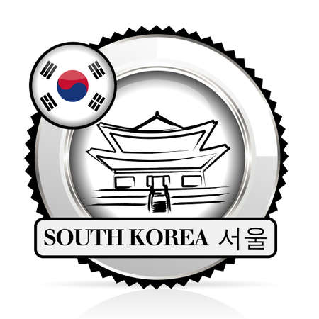 medal South Korea Vector