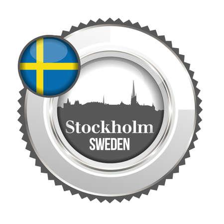 medal Sweden Vector