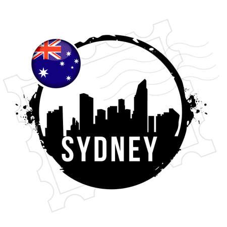 stamp Sydney Stock Vector - 20855872