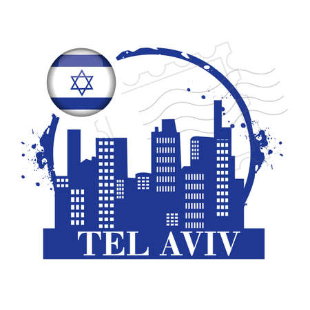 stamp tel aviv Stock Vector - 20855875