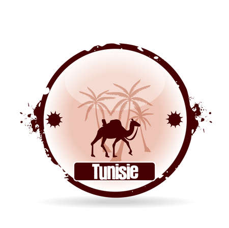 stamp Tunisia Stock Vector - 20855881