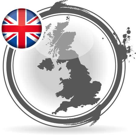 stamp United Kingdom Stock Vector - 20855884