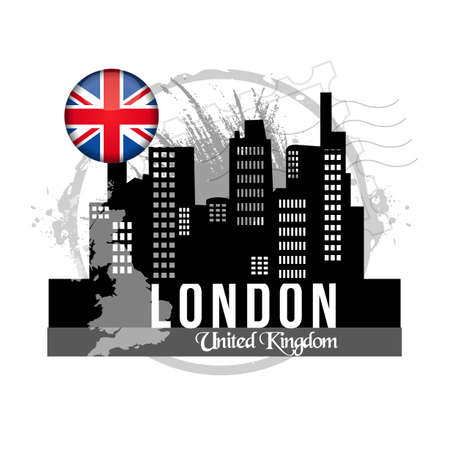 stamp London Stock Vector - 20855885