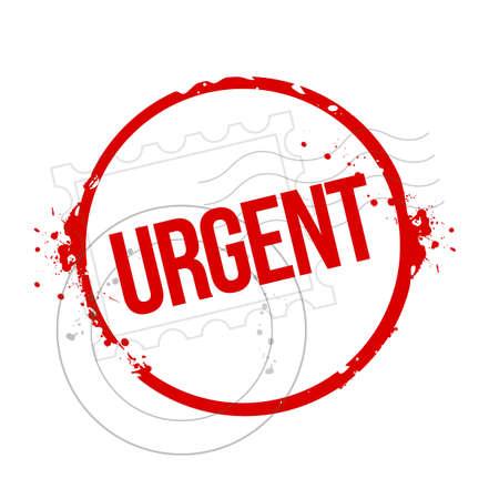 provide: stamp Urgent Illustration
