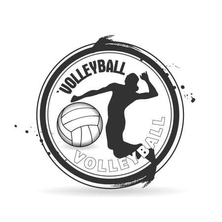 volleyball serve: sello de voleibol