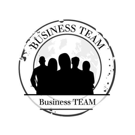 groupe: stamp Business team Illustration