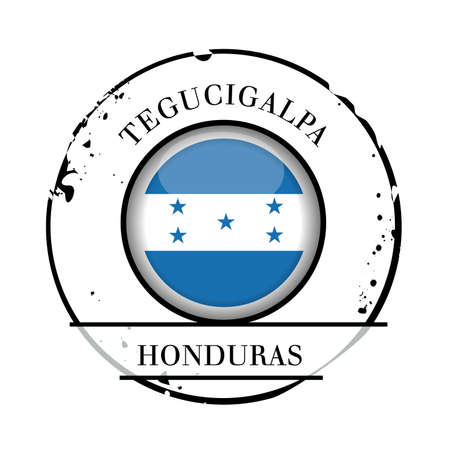 stamp Honduras Vector
